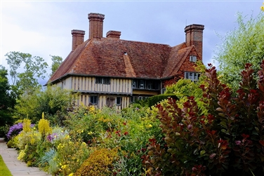 Historic large medieval house with pretty cottage style gardens
