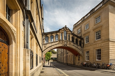 The famous Bridge of Sighs Hertford Bridge) in the University of Oxford