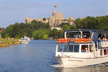French Brothers passenger boat passing Windsor Castle
