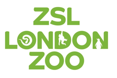 ZSL London Zoo Logo, white background and green text